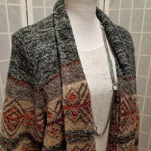 Gorgeous BoHo Blanket cardigan, size XL to 3X